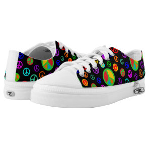 PEACE - Flat pattern multicolored   your backgr. Low-Top Sneakers