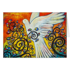 Peace Flew In Christmas Card at Zazzle