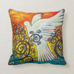 Peace Flew In Dove Pillow