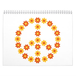 Peace flower bloom calendar