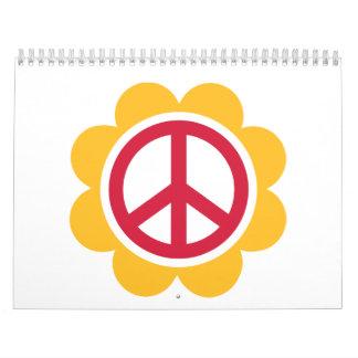 Peace flower calendar
