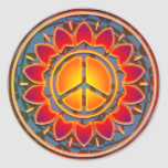 PEACE FLOWER CLASSIC ROUND STICKER
