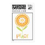 Peace flower copy postage stamp