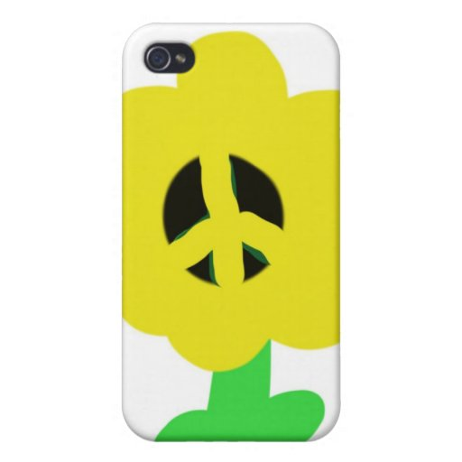 Peace Flower Covers For iPhone 4