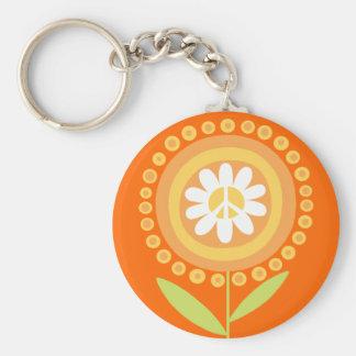 Peace flower Key Chain