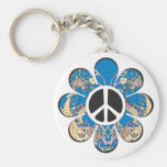 Peace Flower Key Chains