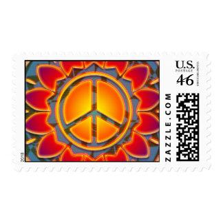 PEACE FLOWER POSTAGE STAMP