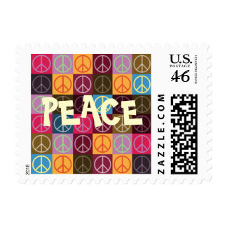 Peace Flower Power Stamps