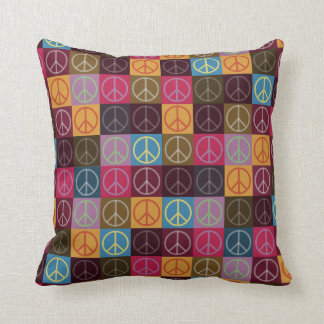 Peace & Flower Power Throw Pillow