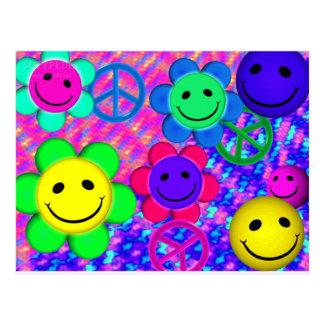 Peace Flower Smilies Postcard