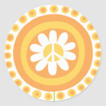 Peace Flower Stickers
