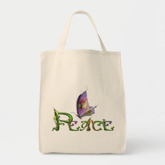 Peace Flowers & Butty Tote Bag