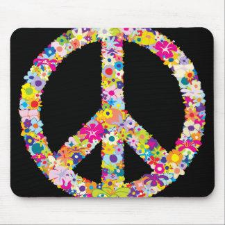 Peace Flowers Mousepad