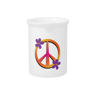 Peace & Flowers Pitcher