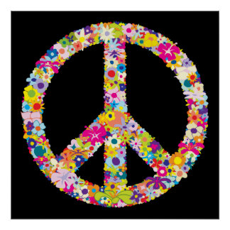 Peace Flowers Poster