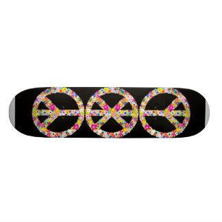 Peace Flowers Skateboard