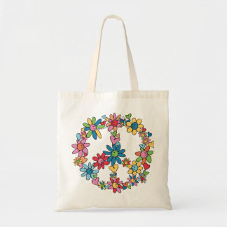 Peace Flowers Tote