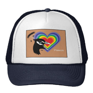 Peace for all cap trucker hat