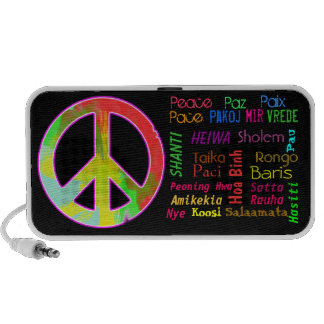Peace for All Doodle PC Speakers