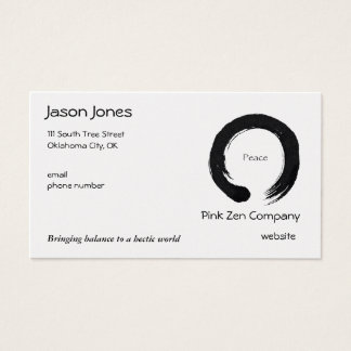 Peace for all eternity business card
