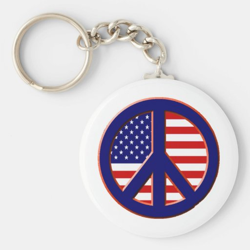 Peace for America Key Chains