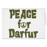 Peace For Darfur 1 Greeting Card