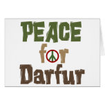 Peace For Darfur 3 Greeting Card