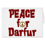 Peace For Darfur 4 Greeting Cards