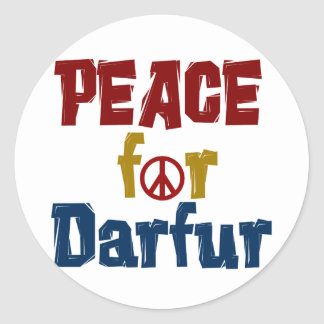Peace For Darfur 5 Classic Round Sticker