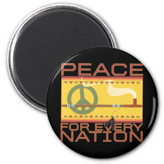 Peace for Every Nation 2 Inch Round Magnet