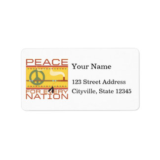 Peace for Every Nation Label
