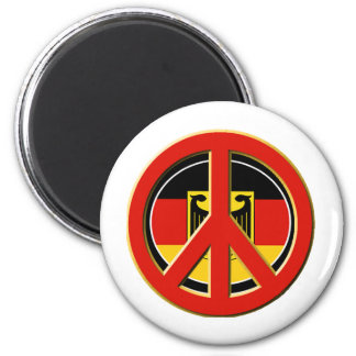Peace for Germany 2 Inch Round Magnet