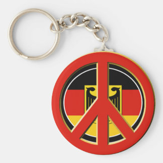 Peace for Germany Basic Round Button Keychain