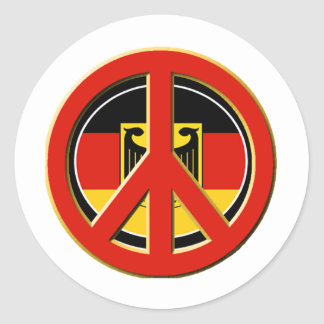 Peace for Germany Classic Round Sticker