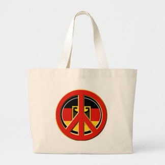 Peace for Germany Large Tote Bag