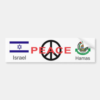 Peace for Israel and Hamas Car Bumper Sticker