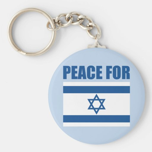 Peace for Israel Keychains