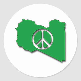Peace for Libya Classic Round Sticker