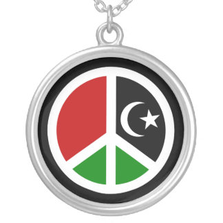 Peace for Libya Personalized Necklace
