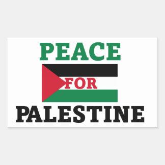 Peace for Palestine Rectangular Sticker