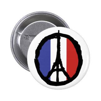 Peace For Paris Pinback Button