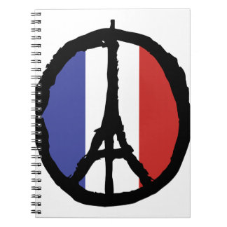 Peace For Paris Spiral Notebook