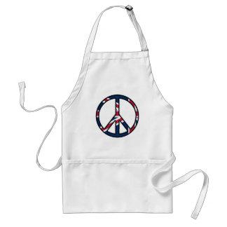 Peace for United Kingdom Adult Apron