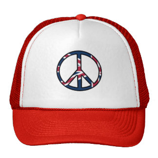 Peace for United Kingdom Trucker Hat