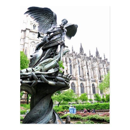 Peace Fountain St. John Divine Church Postcard
