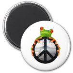 peace frog1 2 inch round magnet