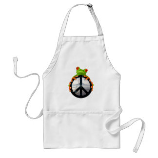 peace frog1 adult apron