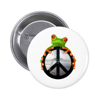 peace frog1 buttons