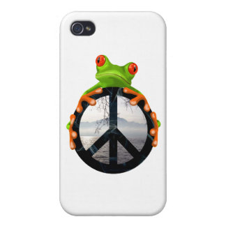 peace frog1 cases for iPhone 4