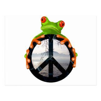 peace frog1 postcards